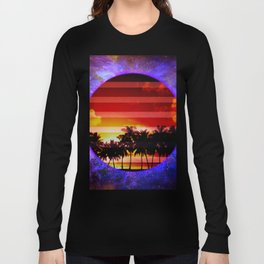 Synthwave Poster v.5 Long Sleeve T-shirt