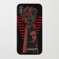 metal gear iPhone & iPod Cases featuring Metal Power Gear by Akyanyme