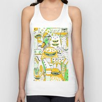 it crowd Tank Tops featuring Monster crowd by AliceDudurand