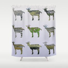 Ode To The Burren Goats Shower Curtain