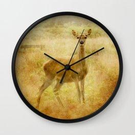 Female Red Deer Wall Clock