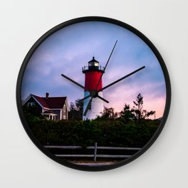 Nauset Lighthouse, Cape Cod, Massachusetts- At Sunrise Wall Clock