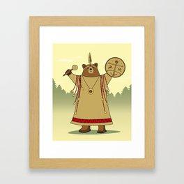 Bear Shaman Framed Art Print