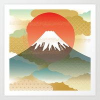 japan Art Prints featuring JAPAN by rie_lalala
