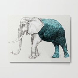 The Stone Elephant Metal Print