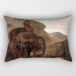 Francisco de Goya - Assault of Thieves Rectangular Pillow