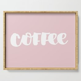 Pink Coffee Serving Tray