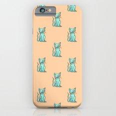 Crazy Cat (Green/Orange) iPhone 6s Slim Case