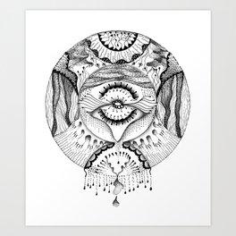 Mandala Worlds Art Print