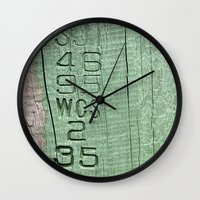 code Wall Clocks featuring Code  by Ethna Gillespie