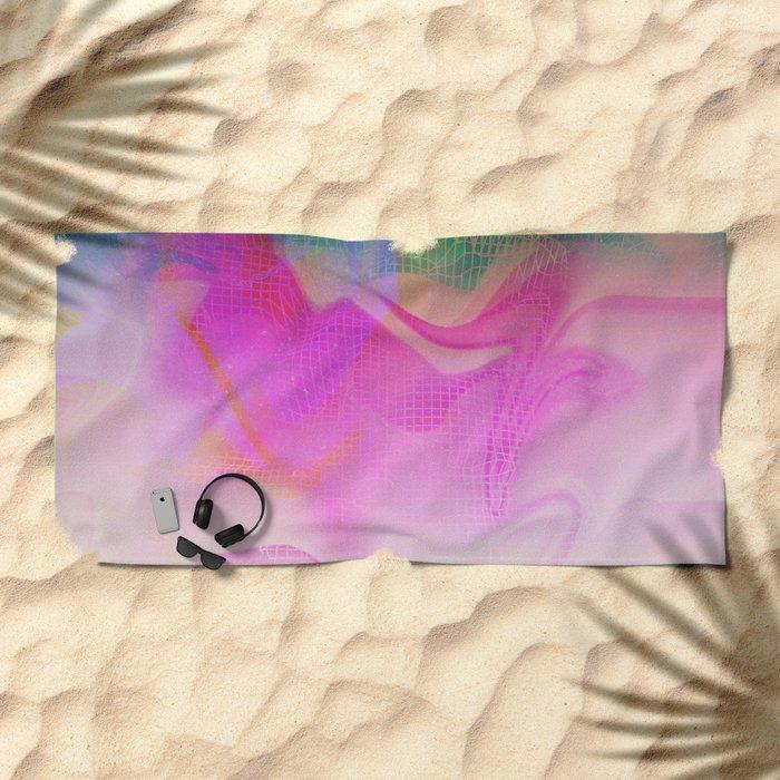 Glitch 25 Beach Towel