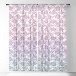 Unicorn Pastel Mermaid Scales #1 #pastel #decor #art #society6 Sheer Curtain