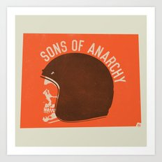Sons of Anarchy Skull Helmet Art Print