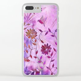 Fly Little Birdies Fly Clear iPhone Case