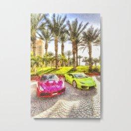 Dubai Super Cars Art Metal Print