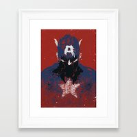 captain Framed Art Prints featuring The Captain by Purple Cactus