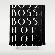 Bossa Nova 1 Black Shower Curtain
