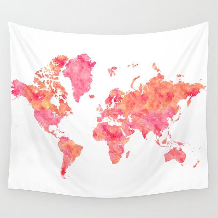 Kids World Map Tapestry