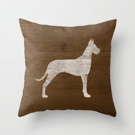 Great Dane Silhouette(s) Throw Pillow