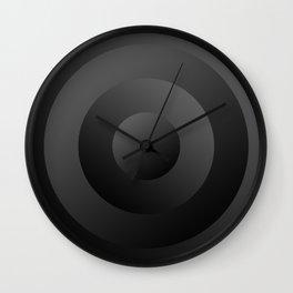 Minimal Circle Black Wall Clock