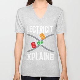 Electricity explained Unisex V-Neck