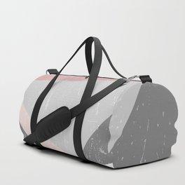 Grunge Geometric Retro Pattern Duffle Bag