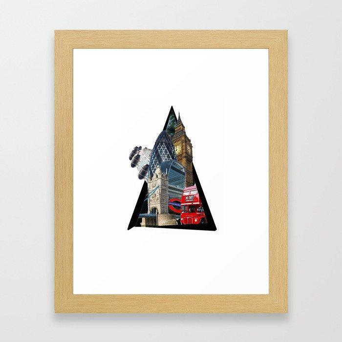 London UK Symbol ArtWork Cities Framed Art Print
