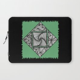 Paradox Tile on Green Laptop Sleeve
