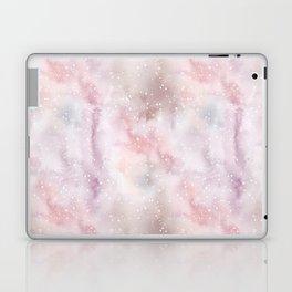 Mauve pink lilac white watercolor paint splatters Laptop & iPad Skin