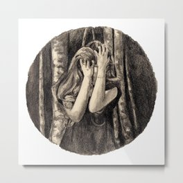 Dismay In Fox Mask Metal Print
