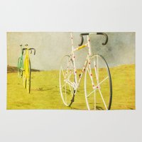 tour de france Area & Throw Rugs featuring Le Tour by bomobob