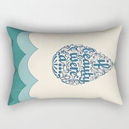 If Beauty Were A Drop of Water Rectangular Pillow