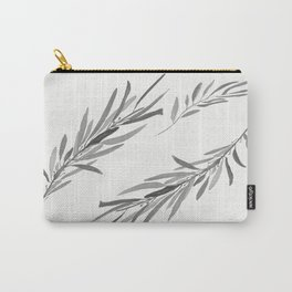 Eucalyptus leaves black and white Carry-All Pouch