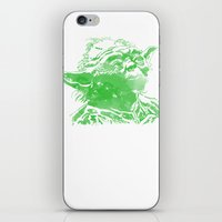 yoda iPhone & iPod Skins featuring Yoda by DanielBergerDesign