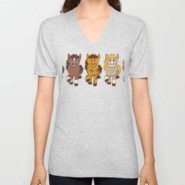 Horsing Shirt For Horse Lovers With Illustration Of Different Color Of Horses T-shirt Design Unisex V-Neck