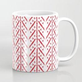 White and red boho pattern Coffee Mug