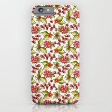 Red sweet flowers Slim Case iPhone 6s