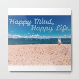 Happy Mind Metal Print
