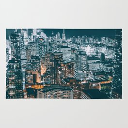 Toronto by night - City at night Rug