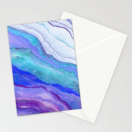 AGATE Inspired Watercolor Abstract 07 Stationery Cards