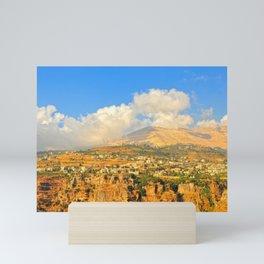 mountains of north Lebanon Mini Art Print