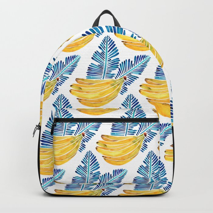 Banana Bunch – Navy Leaves Backpack