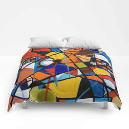 Lines and Circles Comforters