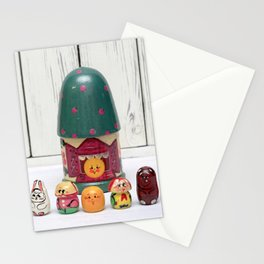 Finger Puppet Theatre Wood 7 Piece Hand Painted Fairy Tale Kolobok Stationery Cards