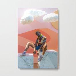 Cloudy Crown Metal Print
