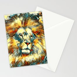 AnimalArt_Lion_20171005_by_JAMColorsSpecial Stationery Cards