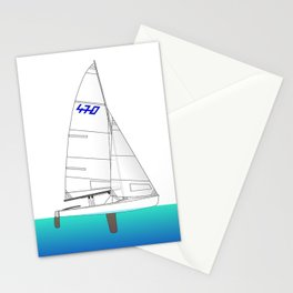470 Olympic Sailing Stationery Cards