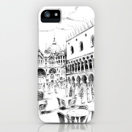 Sketch of San Marco Square in Venice iPhone Case