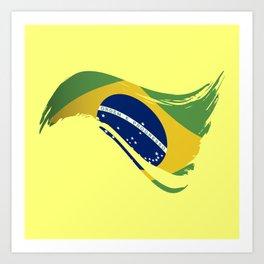 The Flag of Brazil I Art Print