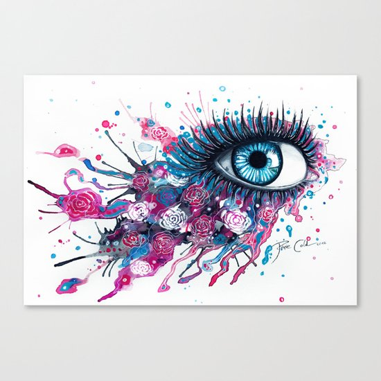 """Midnight Rose"" Canvas Print"